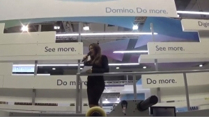 Domino presents N610i hybrid press at Labelexpo Europe