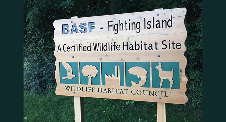 BASF's Fighting Island Certified Gold by Wildlife Habitat Council