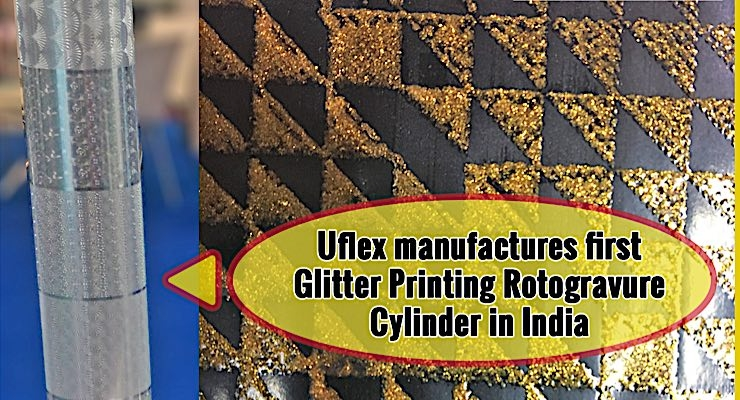 Uflex manufactures specialty glitter ink for flexible packaging