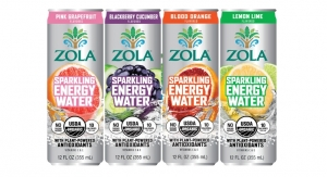Zola Launches Organic Sparkling Energy Waters