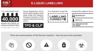 Inside e-liquid labeling
