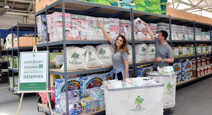 Honest Donates 1.5 Million Diapers to Baby2Baby