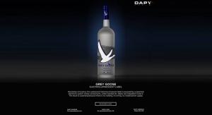 Electroluminescent Label Lights Up Grey Goose's New Bottle