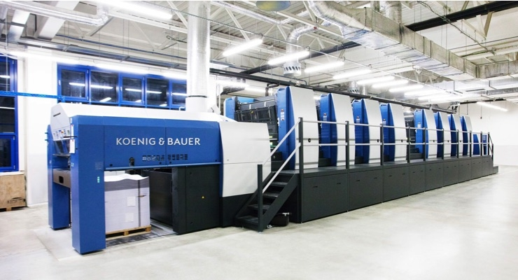 Koenig & Bauer Showcases Eight-color Rapida 145 for 4-over-4