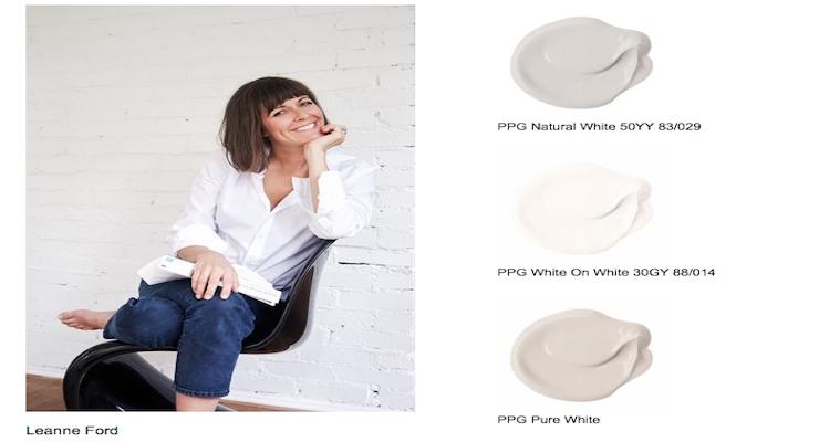 PPG, HGTV Designer Leanne Ford Introduce White Paint Palette