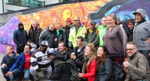 HMG Supplies Paint for Mural Completed by Artists, Homeless