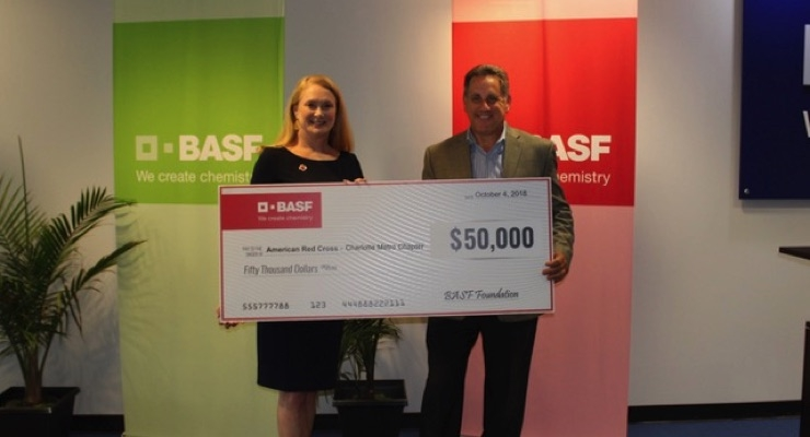 BASF Donates $150,000+ Towards Hurricane Florence Disaster Relief Efforts