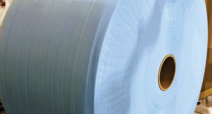 Tredegar Turns to Web Industries for Large-Scale Spooling of Delicate 3D Hygiene Material