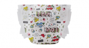 Honest Debuts Valentine's Day Diaper Print