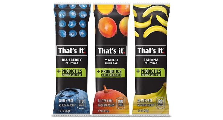 That's It Introduces Probiotic Fruit Bars