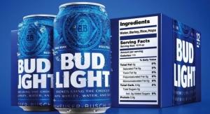 Bud Light debuts large nutrition label