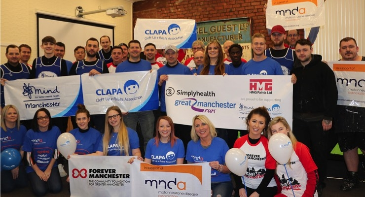 HMG Paints Ltd. Supports Charities by Running in Great Manchester 10K