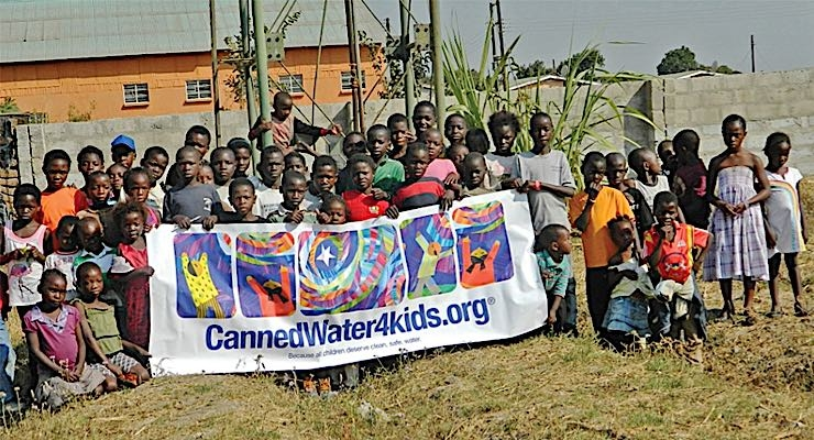 Henkel donates prize money to CannedWater4kids