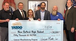 Yazoo Mills donates to local school