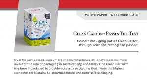 Colbert's Clean Carton Passes the Test