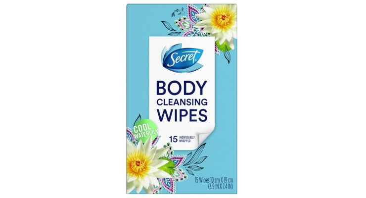 Secret Launches Body Cleansing Wipes