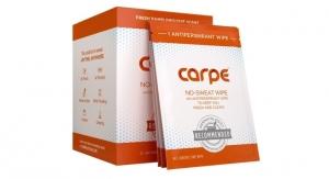 Carpe Introduces Antiperspirant Wipe
