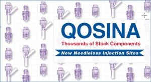 Qosina Introduces Three New Needleless, Swabbable Injection Sites