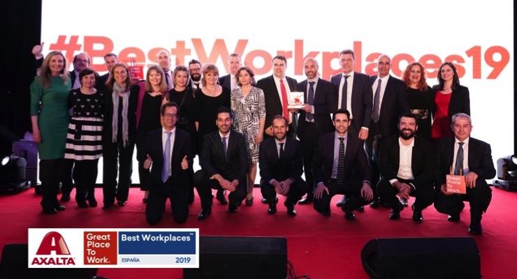 Axalta Spain Makes Top 30 of Best Workplaces 2019