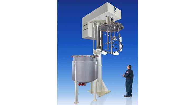 ROSS Redesigns 1,000-gallon Pivoting Triple Shaft Mixer