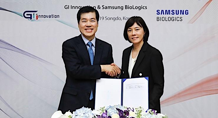 Samsung BioLogics, GI Innovation Ink Second Contract