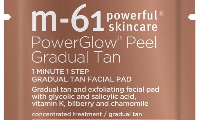 M-61 Debuts PowerGlow Peel Gradual Tan