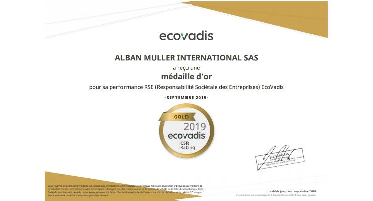 Alban Muller Awarded Gold Status
