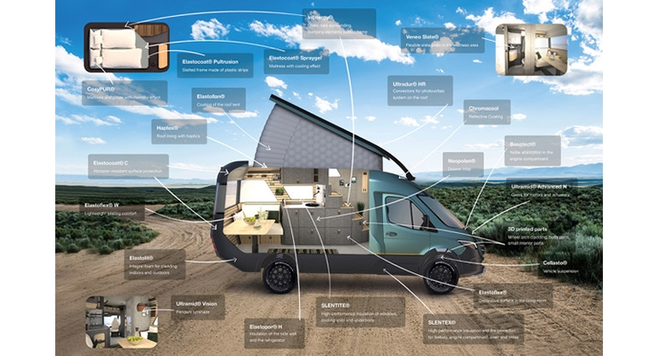 BASF Presents Concept Vehicle VisionVenture at K2019