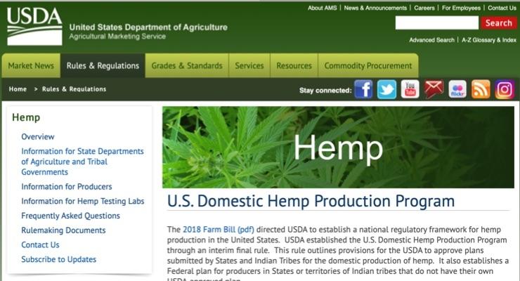 USDA Creates Domestic Hemp Production Program