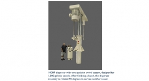 Designing high speed dispersers for large-scale mixing processes