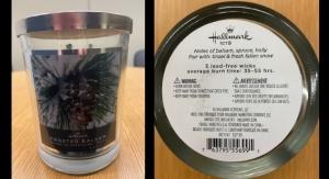 Hallmark Recalls Candles