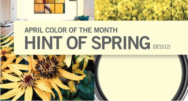 Dunn-Edwards Picks Hint of Spring as April Color of the Month