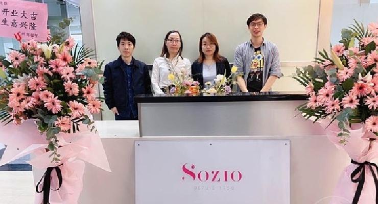 Sozio Relocates in China