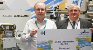 Gallus celebrates sold Labelmaster No. 100