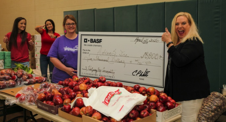BASF Donates $10,000 to ActionS, Inc. to Support Senior Citizens