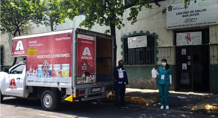 Axalta Manufactures, Donates Hand Sanitizer for Local Community in Mexico