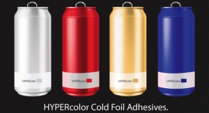 New Cyngient adhesive expands shrink sleeve cold foil color gamut