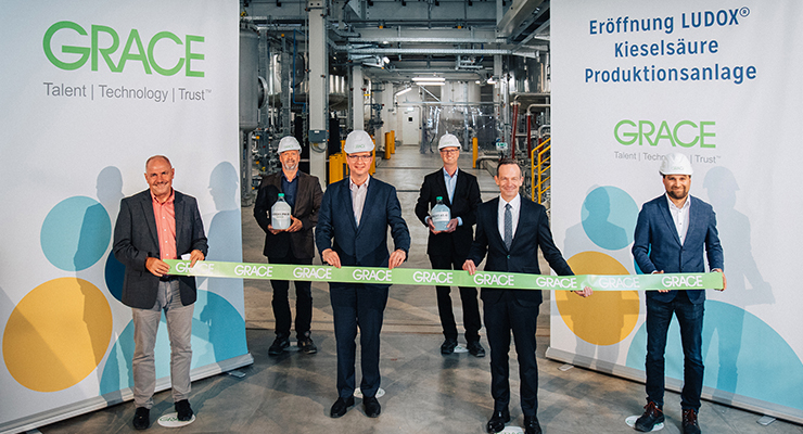Grace Doubles LUDOX Colloidal Silica Capacity with European Plant Opening