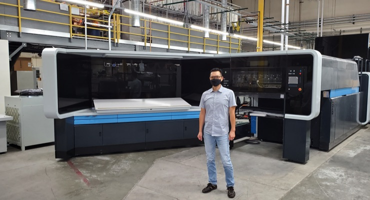 Landa S10 press arrives at K-1 Packaging in California