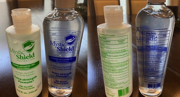 Company Recalls Hand Sanitizer Sold in 4 States