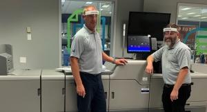 GM Nameplate makes custom face shields with Heidelberg's Versafire EV