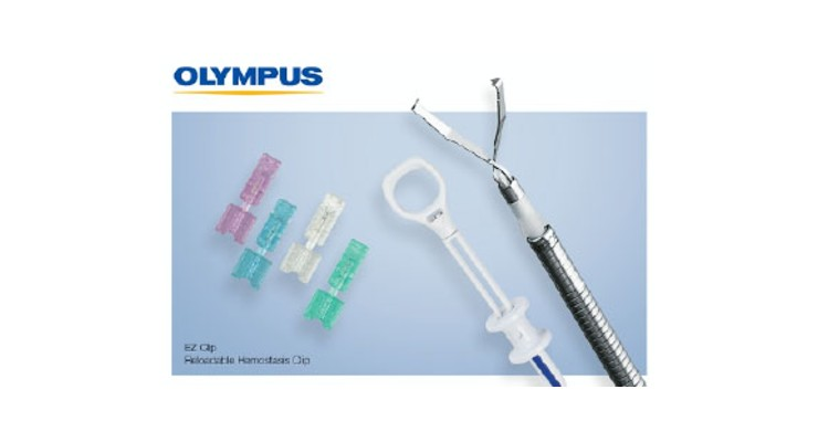 Olympus Launches EZ Clip Reloadable Hemostasis Clip for GI Endoscopy