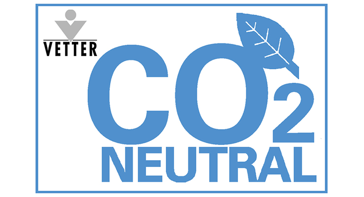 A strong signal in turbulent times: Vetter achieves carbon dioxide-neutral levels