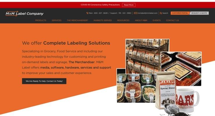 M&M Label Company announces revamped website