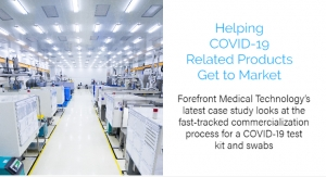 Case Study: Forefront Medical Technology Helps COVID-19 Related Products Get to Market
