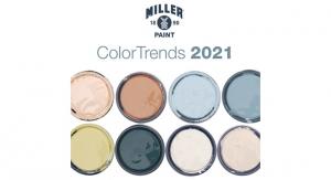 Miller Paint Announces Color Trend Report for 2021