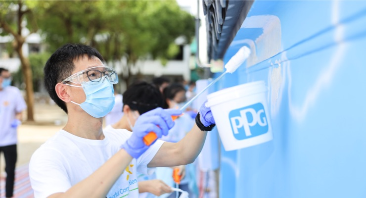 PPG Completes COLORFUL COMMUNITIES Project at Zhangjiagang White Cloud Primary School