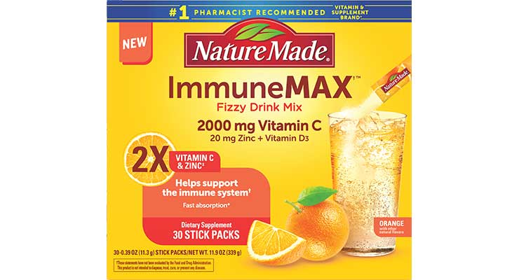 Nature Made Launches ImmuneMax Fizzy Drink Mix