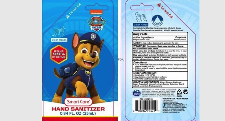 Packaging Prompts Hand Sanitizer Recall