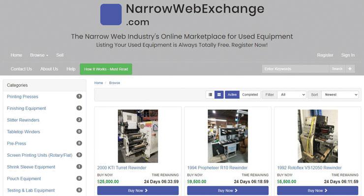 Companies To Watch:  NarrowWebExchange.com